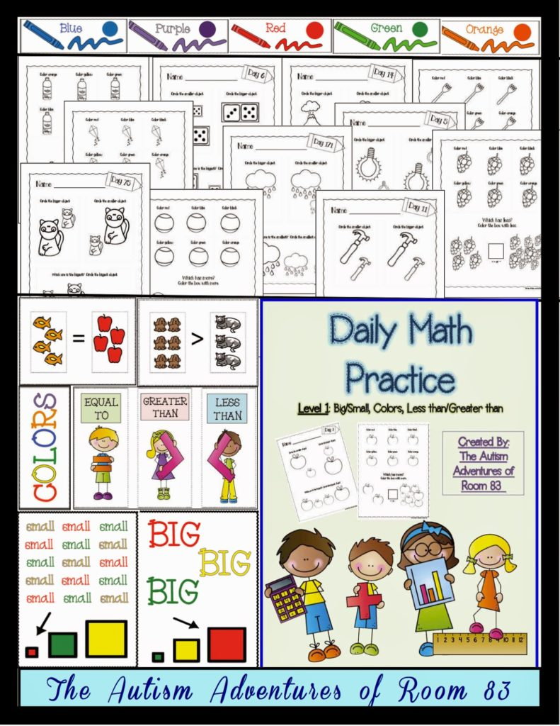 hight resolution of Adapting Math Worksheets! » Autism Adventures
