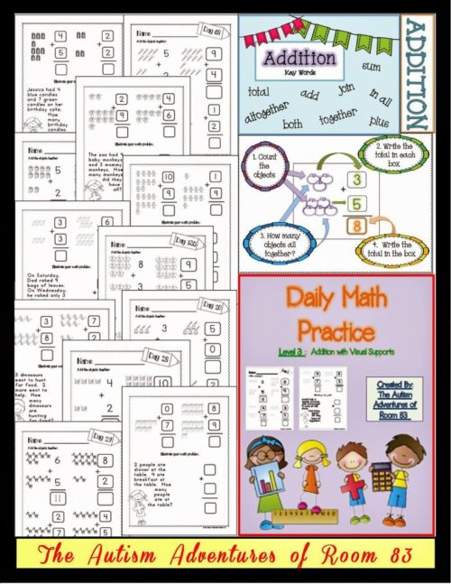 small resolution of Adapting Math Worksheets! » Autism Adventures
