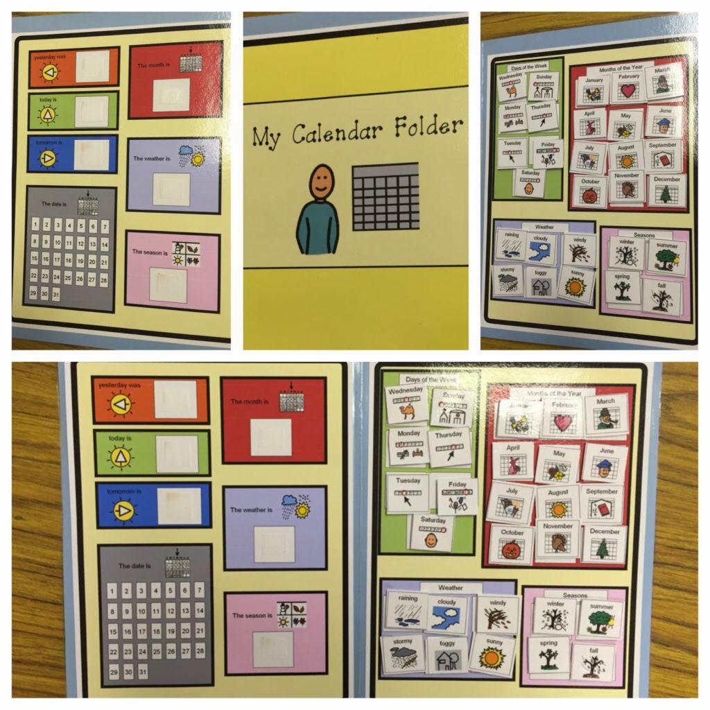 Calendar File Folder Activities Autism Adventures