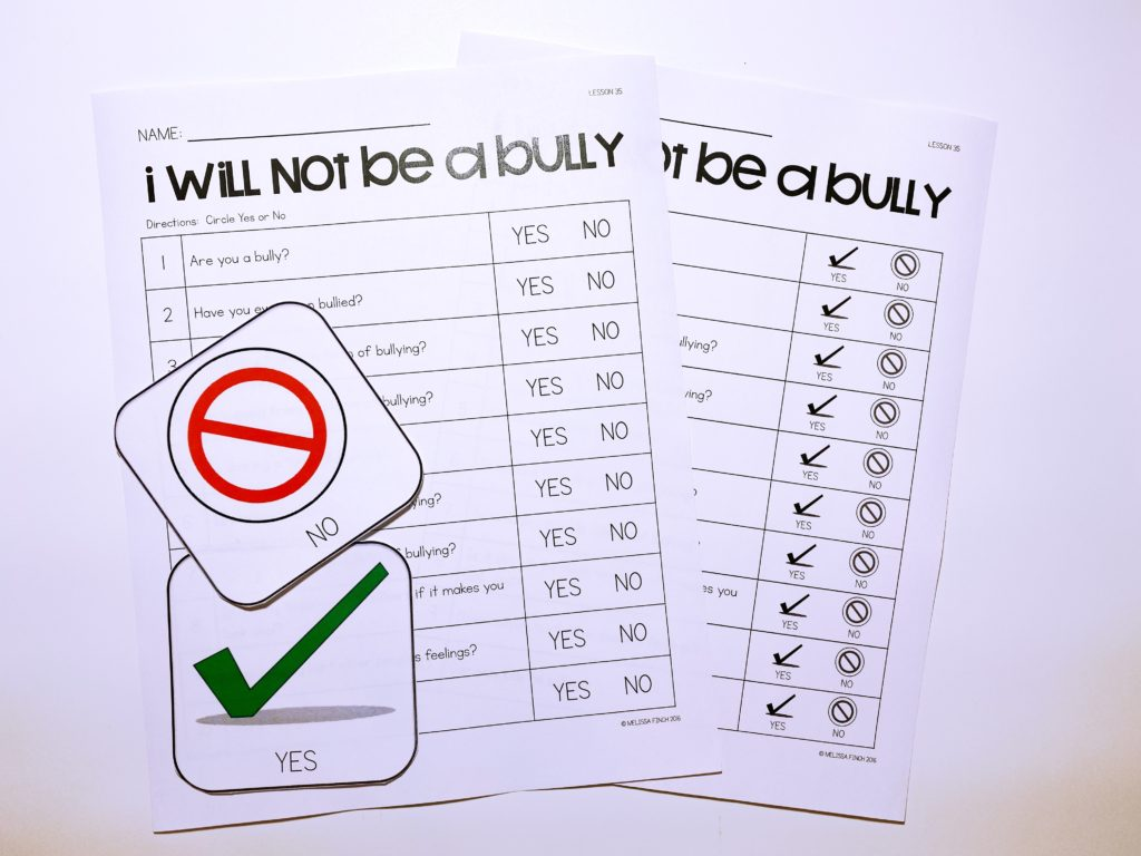I Will Not Be A Bully Behavior Basics Autism Adventures