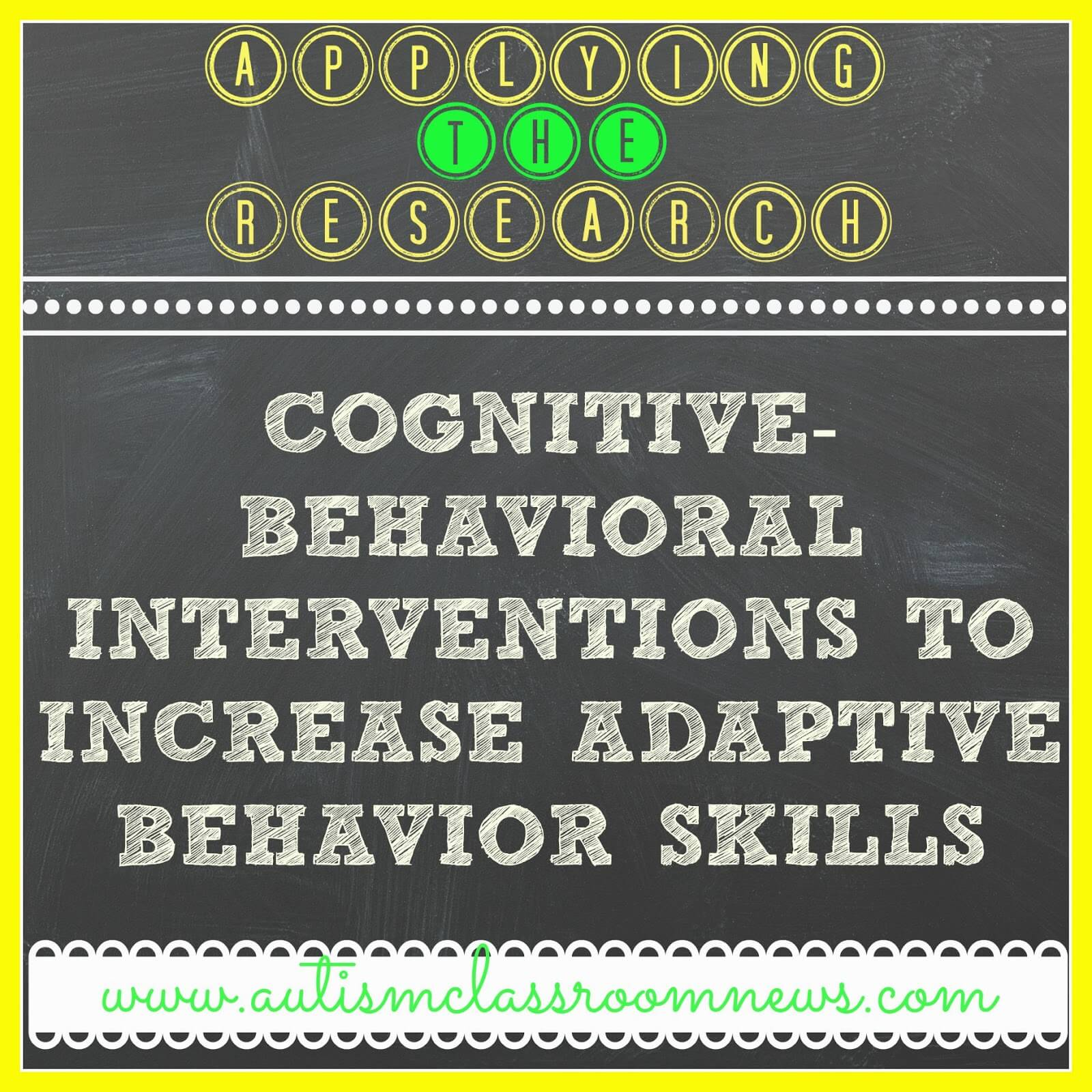 Applying The Research Cognitive Behavioral Interventions