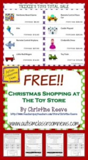Christmas Shopping at the Toy Store Free Activities from Autism Classroom Resources