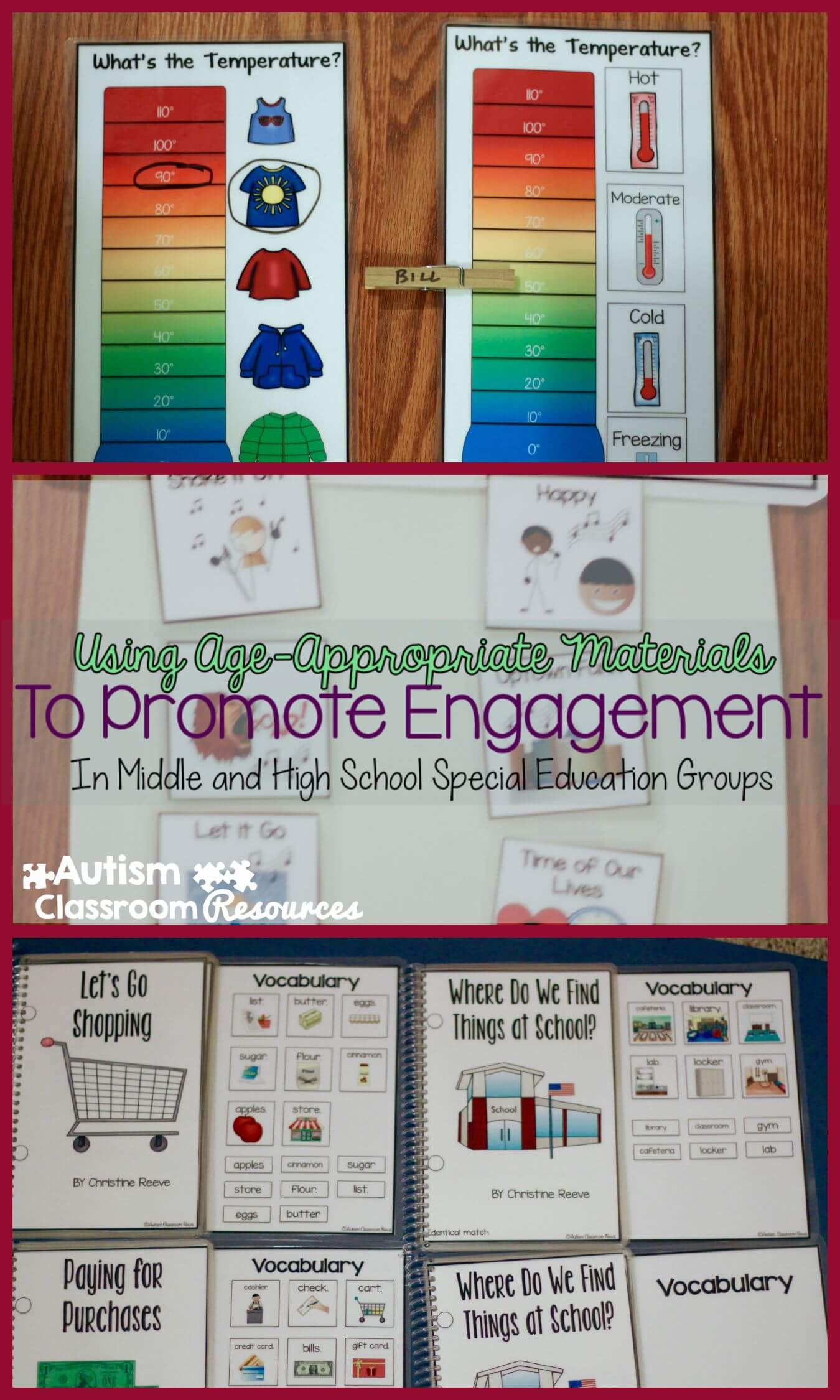 Promoting Engagement Using Age Appropriate Materials In