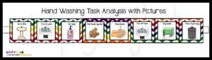 picture task analysis schedule for washing hands. Autism Classroom News on TPT