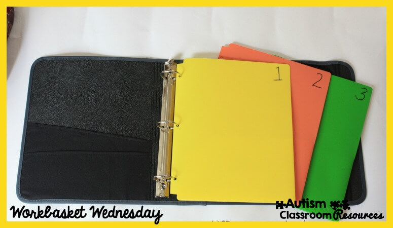 Notebook Structured Work System by Autism Classroom News