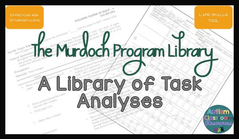 Murdoch Program Library: A Great Tool for Teaching Life Skills
