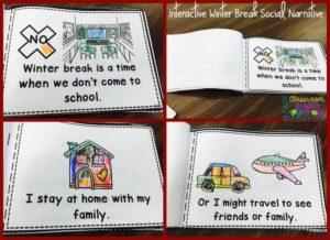 Free Winter Break Social Narrative from Autism Classroom News