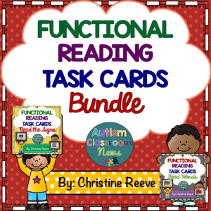 Functional Reading Task Cards Series Bundle from Autism Classroom News