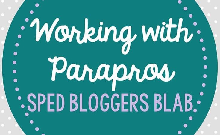Paraprofessional Training: Special Education Blogger Blab