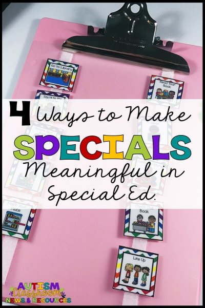 Making specials like art, music and PE beneficial for some of our students in special education can be tough. Here are 4 tips that can help you develop meaningful experiences for them and their teachers.