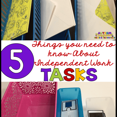 What You Need to Know About Tasks in Your Independent Work System