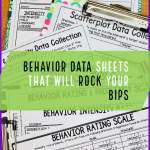 Behavior Data Sheets that Will Rock Your BIPs