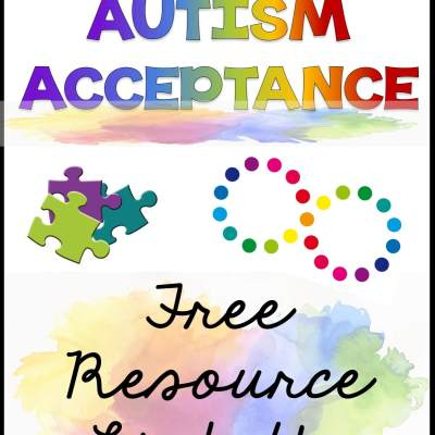 It's Past Time for Autism Acceptance in April: Freebie Link Up