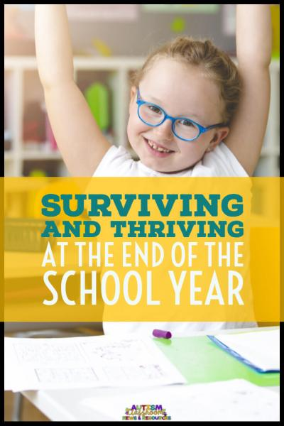 It's hard enough to survive the end of the year, much less thrive in a special ed. classroom. This time of the year is tough for everyone, but for our students with autism, it's just that much tougher. If you are trying to see the light at the end of the tunnel, here' 5 ways to help you make it work!
