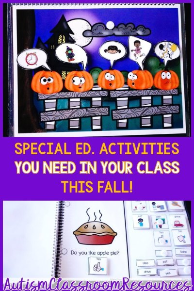 Fall Special Education Activities You Need in Your Classroom