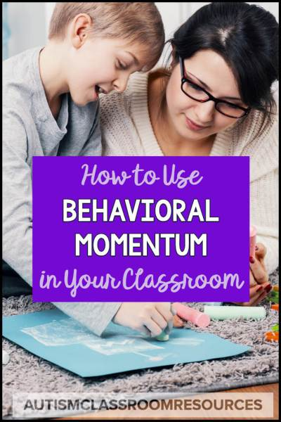 Behavioral momentum is a great tool to have in your kit to help get students to comply with disliked or difficult instruction. Find out more with this video. #behavioranalysis #behaviormomentum