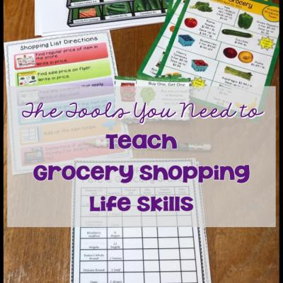 The Tools You Need to Teach Grocery Shopping Life Skills