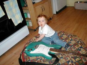 Roc jams, 13 months old.
