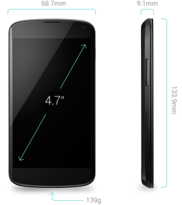 Nexus 4 Specs