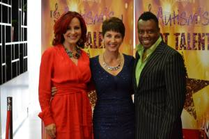 Anna Kennedy OBE, with Carrie and David Grant. photo credit So Shoot Me Photography/Karen McGuire