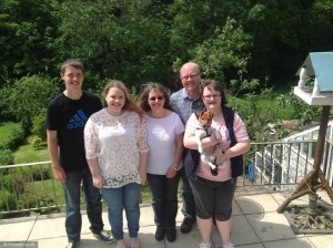 Dyer Family, Left to right, Andrew, Nicola, Catherine, Mark and Claire