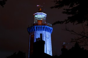 Hoylake lighthouse was one of three Merseyside lighthouses and several other landmark buildings which lit up blue on World Autism Awareness Day as part of Wirral Autistic Society's 'Get your blue on' campaign to raise awareness of autism.