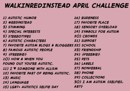 walkinredinstead april challenge for autism awareness month