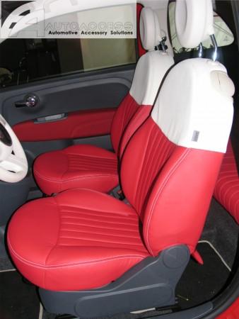 Fiat 500 Interior upgrade RedWhite