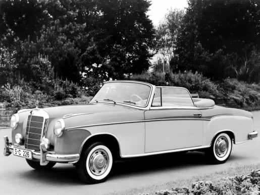 Mercedes-Benz Ponton 220S cabriolet (W180) 1956-1959 vue AV
