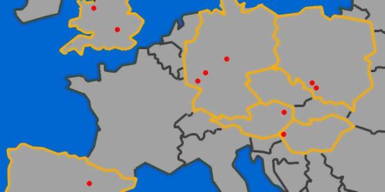 Mapa infrastruktury produkcyjnej marki Opel w Europie