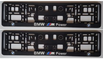 2x AMG MERCEDES-BENZ EUROPEAN LICENSE NUMBER PLATE SURROUNDS HOLDERS