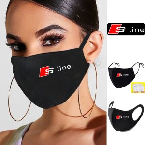 S-line-logo-masque-facial-Sline-Sport-Print-Lavable-Earloop-Face-Respiring Mask-Cycling-Anti-Dust