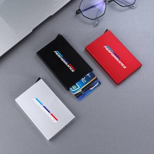 Smart-Wallet-Automatically-Metal-Bank-Credit-Card-Holder-Thin-ID-Card-Case-RFID-For-BMW-BMW