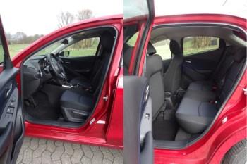 Bietet ordentlich Platz in beiden Sitzreihen: der Mazda2. Foto: Petra Grünendahl.