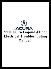1988 Acura Legend 4-Door Electrical Troubleshooting Manual