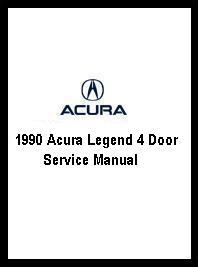 1990 Acura Legend 4 Door Service Manual