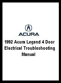 1992 Acura Legend 4 Door Electrical Troubleshooting Manual