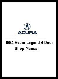 1994 Acura Legend 4 Door Shop Manual