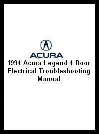 1994 Acura Legend 4 Door Electrical Troubleshooting Manual