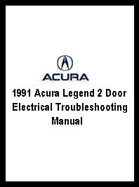 1991 Acura Legend 2 Door Electrical Troubleshooting Manual