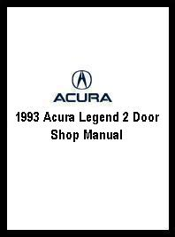 1993 Acura Legend 2 Door Shop Manual