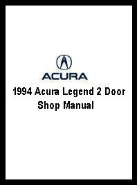 1994 Acura Legend 2 Door Shop Manual