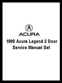 1995 Acura Legend 2 Door Service Manual Set