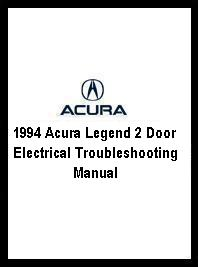 1994 Acura Legend 2 Door Electrical Troubleshooting Manual