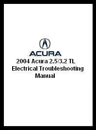 2004 Acura 2.5/3.2 TL Electrical Troubleshooting Manual
