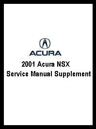 2001 Acura NSX Service Manual Supplement