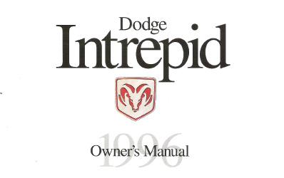1996 Dodge Intrepid Factory Owner's Manual
