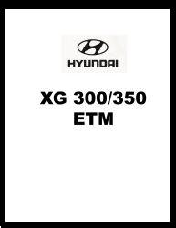 2001 Hyundai XG 300/350 Factory Electrical Troubleshooting