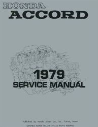 1979 Honda Accord Factory Service Manual on CD-ROM