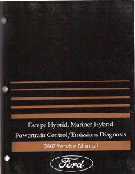 2007 Ford Escape Hybrid, Mariner Hybrid Powertrain Control  Emissions Diagnosis Service Manual